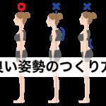 腰痛、肩こり、ダイエットにも!良い姿勢のつくり方を解説