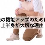 膝の機能アップのために上半身が大切な理由